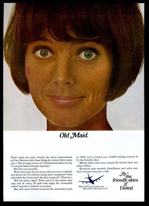 sexism old stewardess flight attendants advertisements
