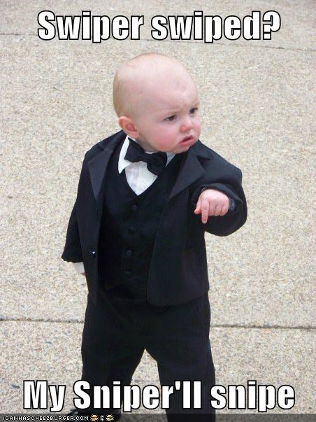 Baby Godfather dora fox sniper swiper - 5962372864