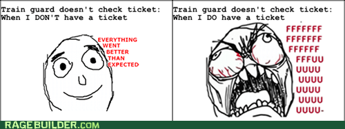 everything went better than expected fu guy Rage Comics ticket train