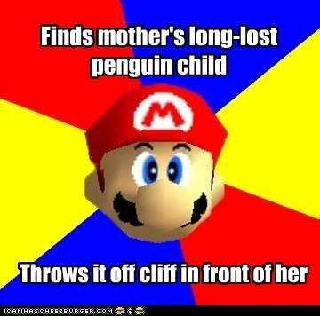 child cliff mario mother penguin Scumbag Steve - 5963429120
