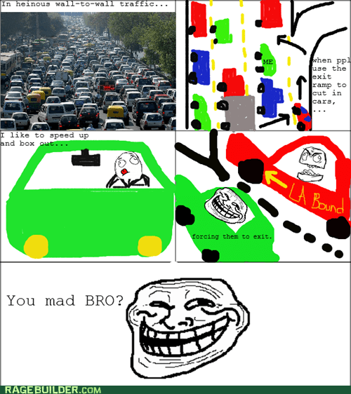 best of week,driving,Rage Comics,traffic,troll