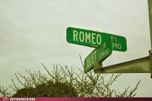 Picture at corner of Romeo and Juliet streets.