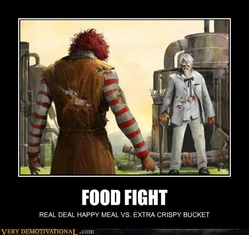 colonel sanders,fight,hilarious,Ronald McDonald