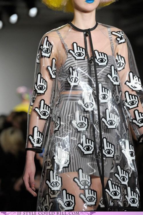 cool accessories,eyes,hands,jeremy scott,runway