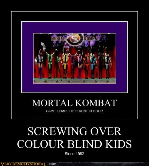 color blind hilarious Mortal Kombat screwed - 5964521216