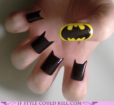 batman,comics,cool accessories,nail art,nails