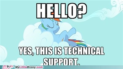 meme rainbow dash relaxing technical support work - 5964905728