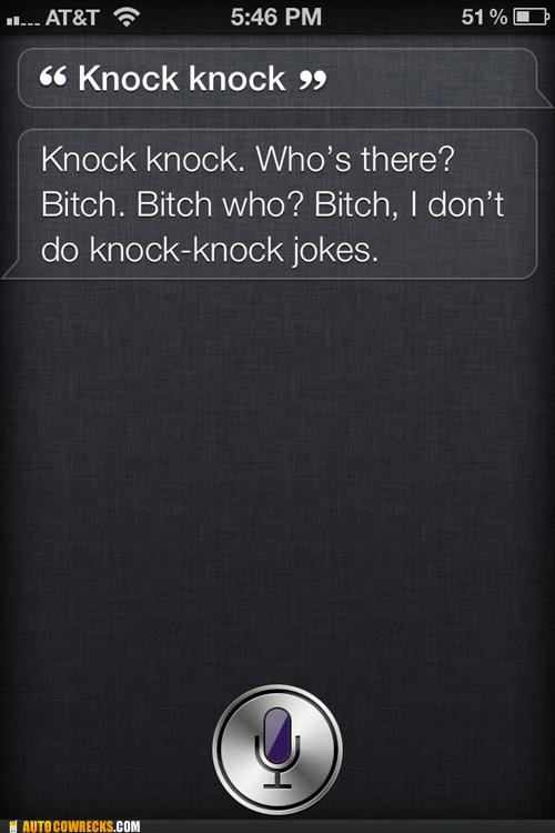 joke knock knock knock knock joke rude siri - 5965343488