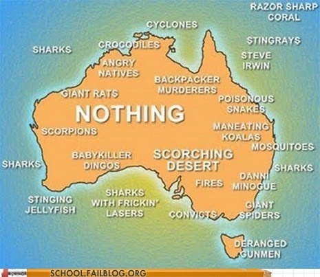 Geography 101: Australia's an Easy Place to Learn