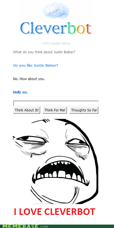 Cleverbot justin bieber like sweet jesus have mercy - 5966739712