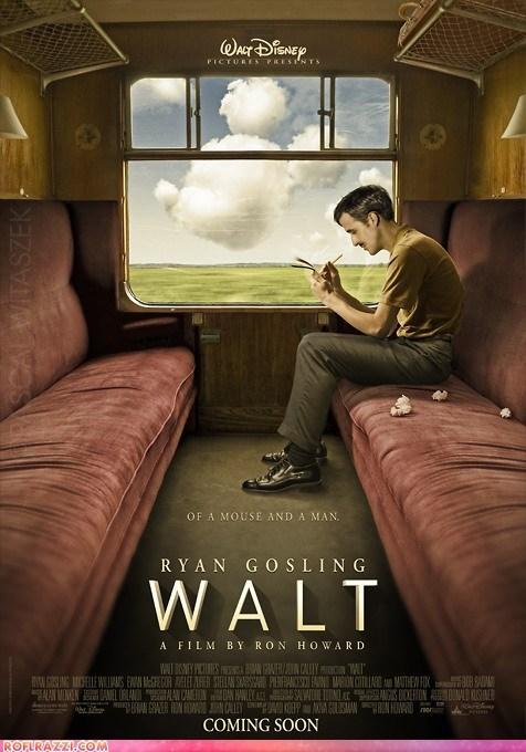 actor art awesome celeb disney fake Hall of Fame Movie poster Ryan Gosling - 5966774016