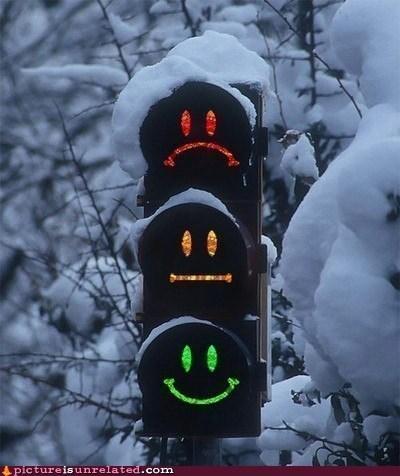 smiley face traffic light wtf - 5966807296