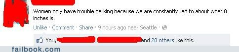 driving failbook jokes parking womenamirite - 5967228160