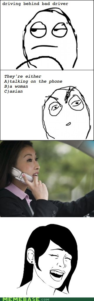 asian driving phone Rage Comics women - 5967262976