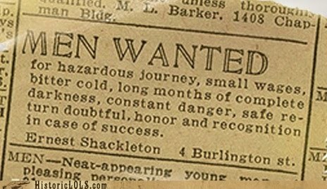 Ad ernest shackleton history news print - 5967264768