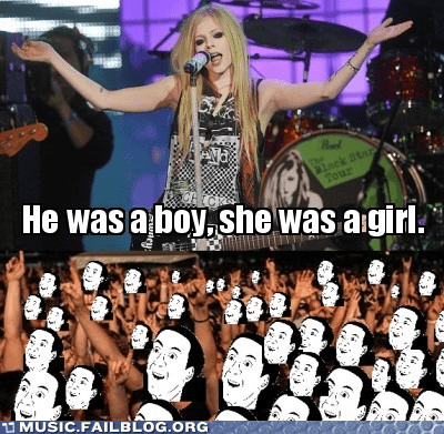 avril lavigne,obvious,profound,sk8r boi