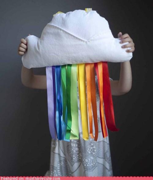 cloud Pillow rainbow ribbon - 5967444224