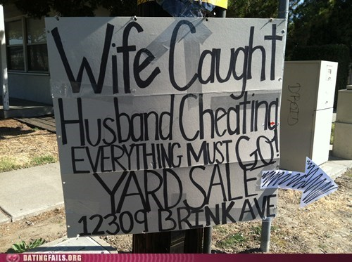 revenge sale wife caught husband cheating yard sale - 5967453184