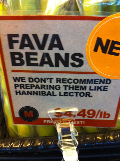 beans clever fava beans hannibal lector Movie silence of the lambs - 5967833344