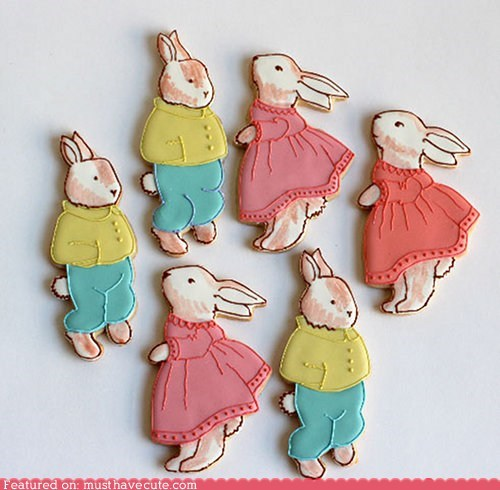 art,bunny,cookies,easter,epicute,icing,rabbit