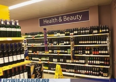 accident health liquor store sign wine