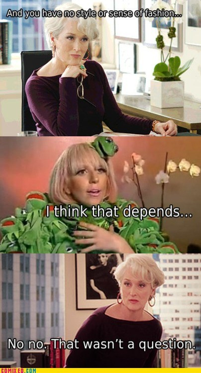 fashion kermit the frog lady gaga the internets - 5967985408