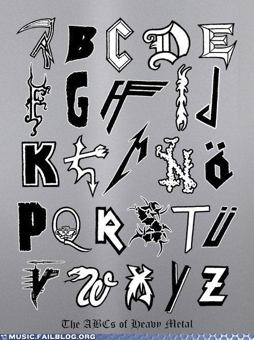 ABC,Hall of Fame,heavy metal,letters,metal