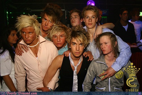 British bros Chav european guido hair Party
