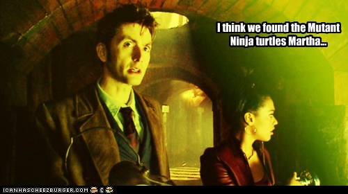 David Tennant,doctor who,freema agyemen,martha jones,teenage mutant ninja turtles,the doctor