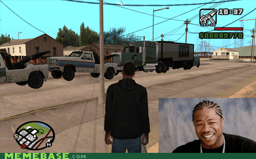 Grand Theft Auto towing trucks yo dawg - 5968110848