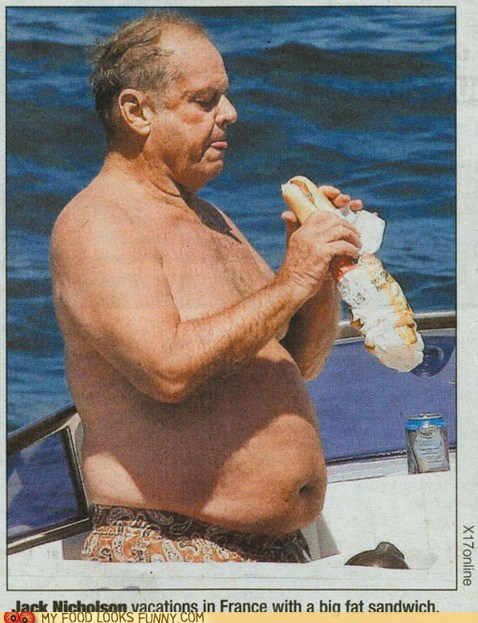 boat,france,jack nicholson,sandwich,vacation