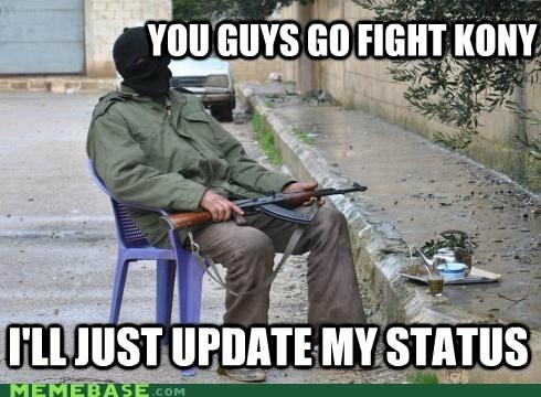 facebook fight Kony status - 5968140288