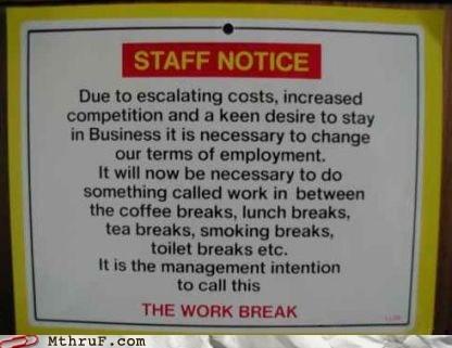 lunch break sign staff notice work work break - 5968152064