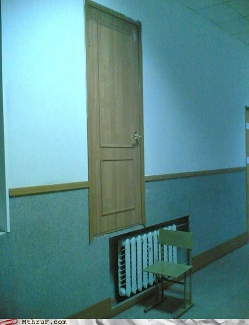 door high door poor design poor planning prank step chair - 5968249600
