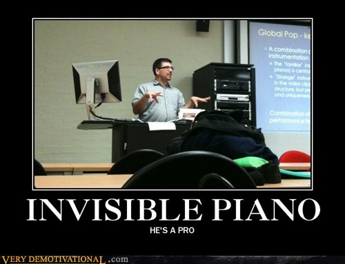 guy hilarious invisible piano wtf