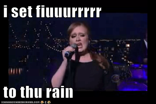 adele,i set fire to the rain,Music,sing