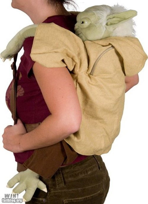 backpack design g rated Hall of Fame nerdgasm star wars win yoda - 5968995584