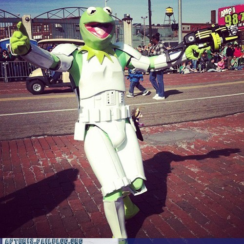 kermit the frog,muppet,St Patrick's Day,star wars,stormtrooper