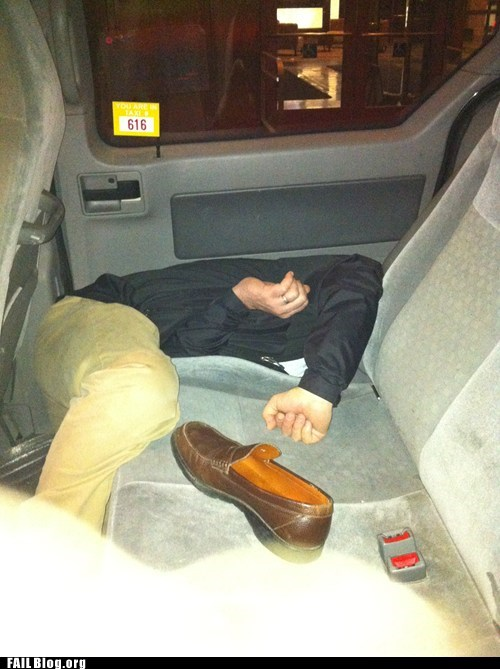 car,ouch,passed out,taxi