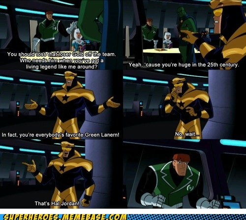 booster gold,green lanter,guy gardener,hal jordan,Saturday Morning Cartoons