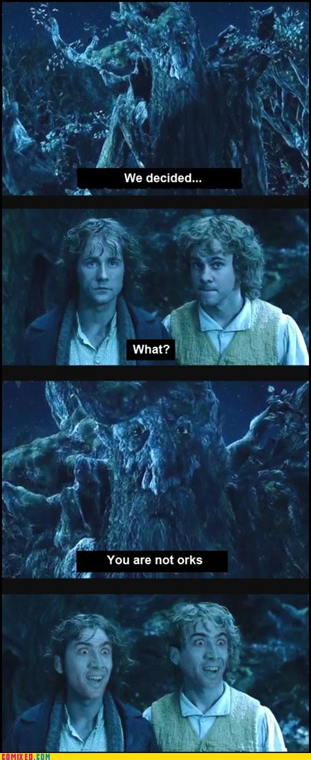 best of week From the Movies hobbits Lord of the Rings you dont say