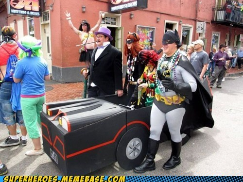 batmobile costume driving parade Super Costume wtf - 5970691072