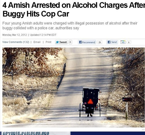 amish,booze news,buggy,crash,news,police