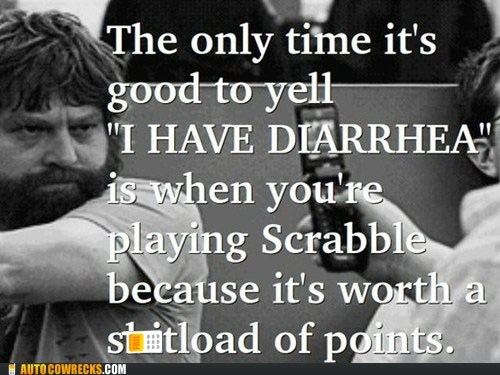 diarrhea,poop,pooping,scrabble,Words With Friends,Zach Galifanakis