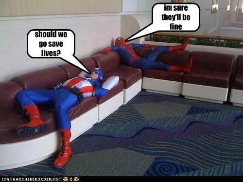 captain america costume on duty Spider-Man Super-Lols - 5971847680