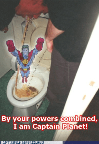 captain planet gross pee puke whoops - 5971920640