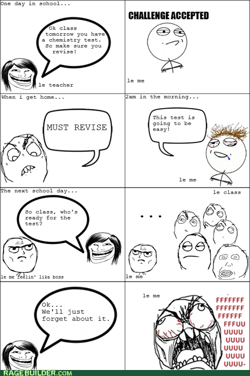 Challenge Accepted,fu guy,Rage Comics,truancy story