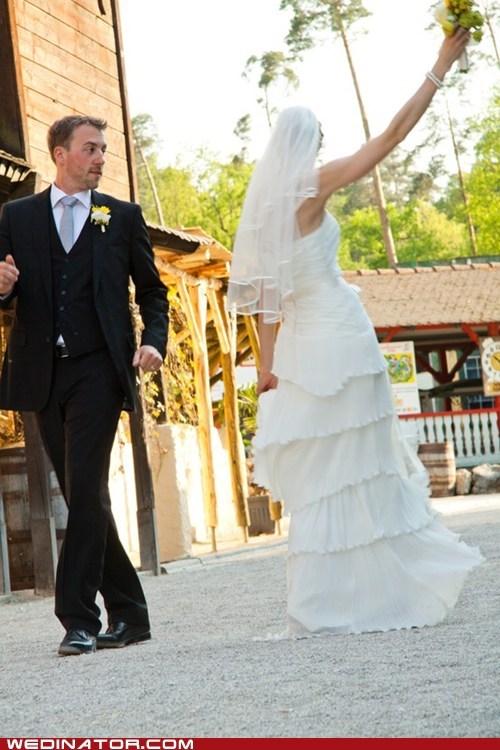 bride dance funny wedding photos groom - 5971989248