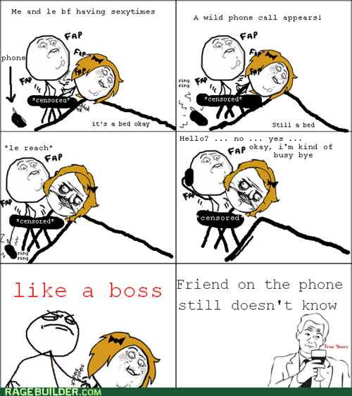 phone call Rage Comics sexytimes true story - 5972042496