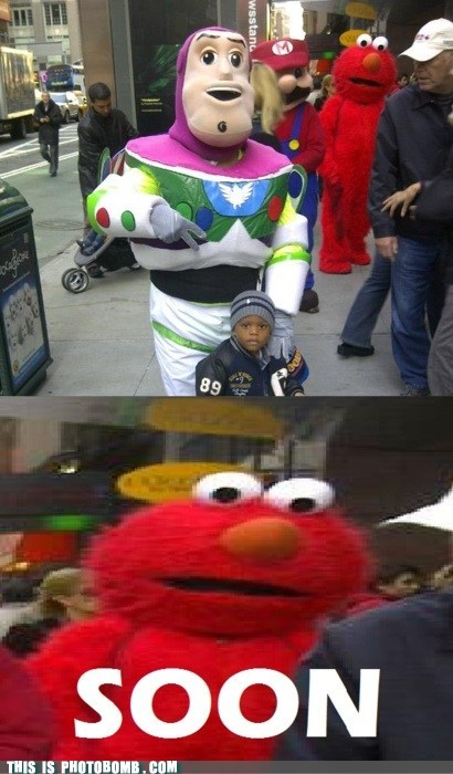 buzz lightyear,elmo,Impending Doom,learning letters,Sesame Street,Street Bomb,teaching
